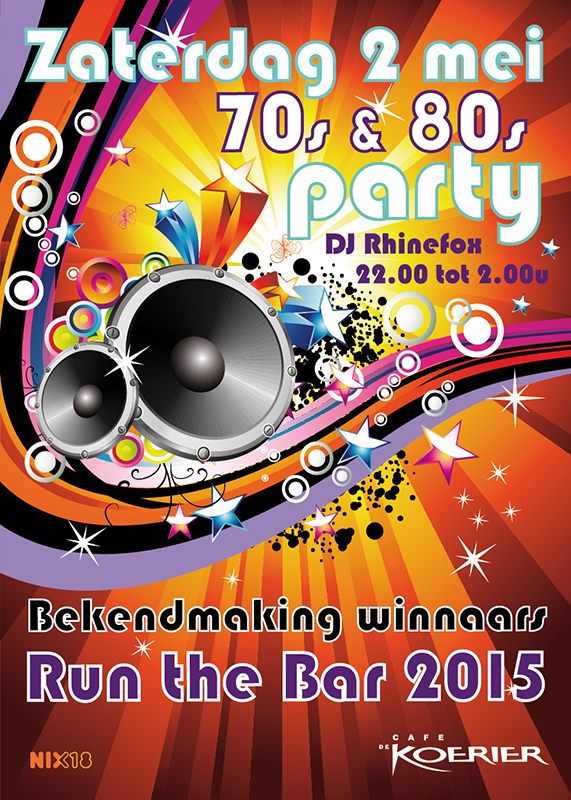 Poster 70's and 80's partij