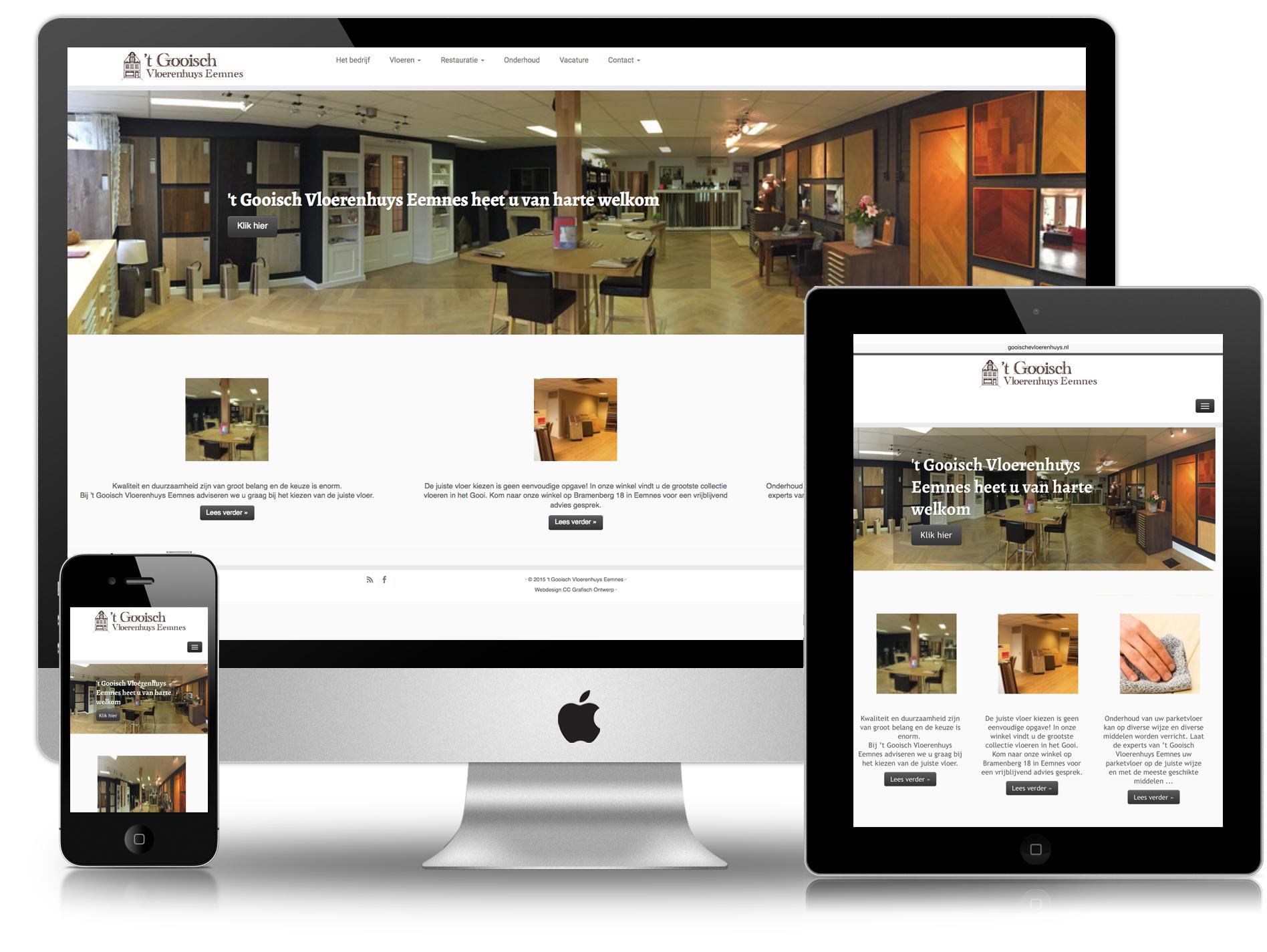 Website Gooische Vloerenhuys Eemnes