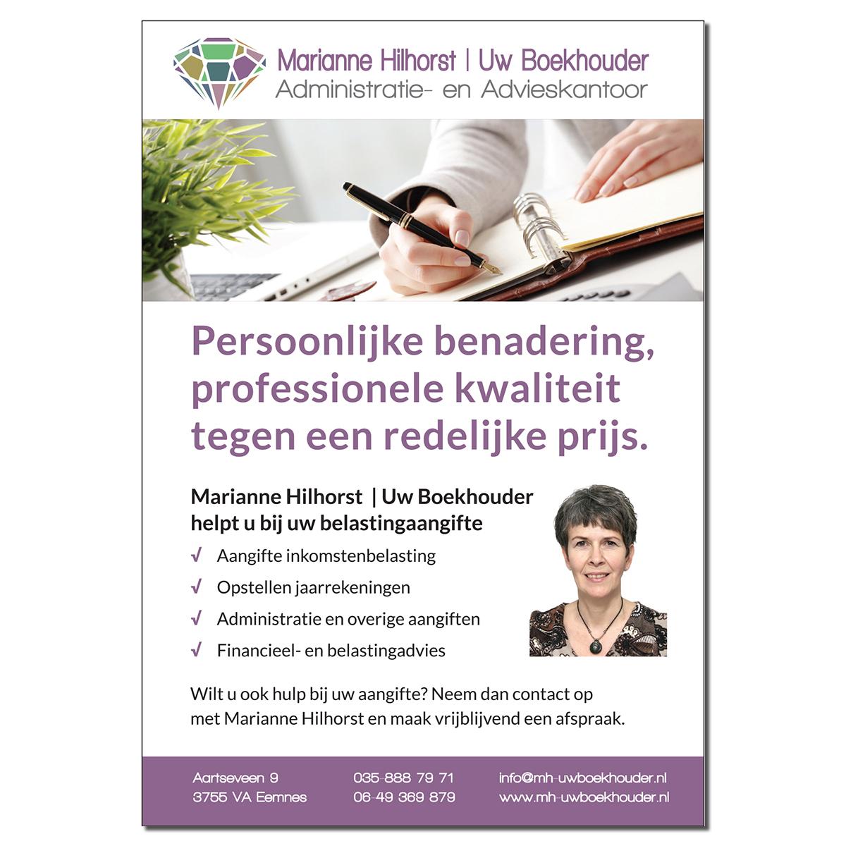 Huisstijl Marianne Hilhorst | Uw Boekhouder