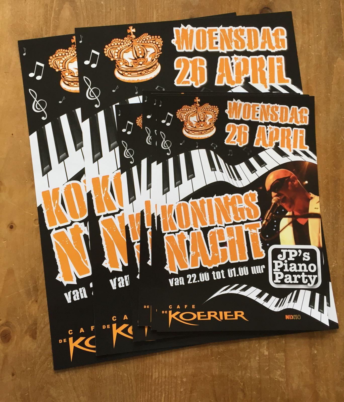 Poster Koningsnacht – Café de Koerier