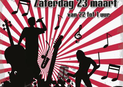 Poster Café de Koerier 70s 80s 90s